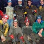Společná fotografie po výstupu z podzemí