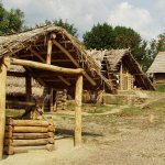 Dřevěné stavby skanzenu