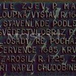 deska na kapli Chaloupka
