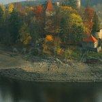 hrad Zvíkov na soutoku Vltavy a Otavy