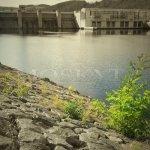 hráz přehradní nádrže Kamýk