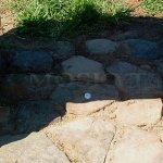 Keltské šance. detail průsečíku linií pod dolmenem