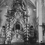 historická fotografie interiéru skokovského poutního kostela