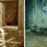 nákres fotografie ducha a naše fotografie stejného místa