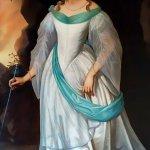 obraz Bílé Paní se záhadným nápisem