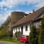 Vesnice a zřícenina hradu Talmberk v realitě